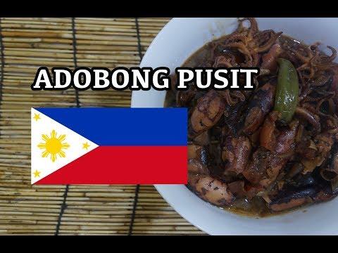 Adobo Pusit Recipe - Filipino Tagalog Pinoy Adobong