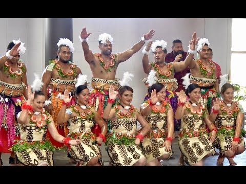 Tonga Masani Dancing for NZ PM Jacinda Ardern & Pacific Mission Delegation