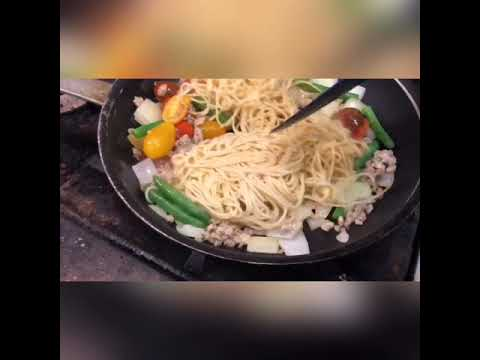 Ground Chicken Green Curry Pasta