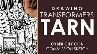 DRAWING TRANSFORMERS TARN: CYBER CITY CON COMMISSION SKETCH