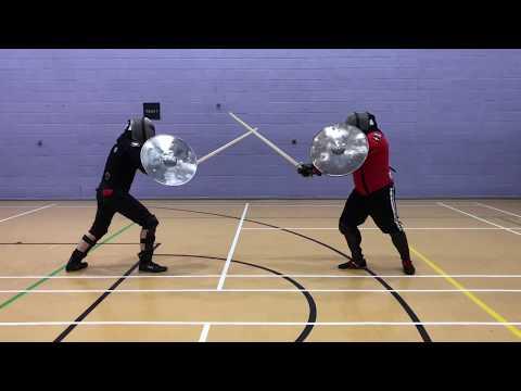Sidesword & Rotella (Shield) Sparring - Jordan vs Nick