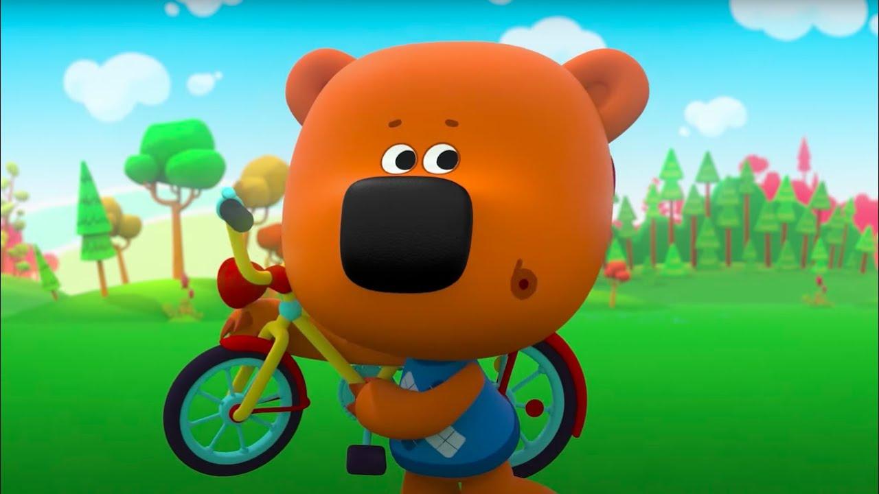Мультик 🐻  МИ-МИ-МИШКИ - 🚲  Катаемся на Велосипеде! ☀ Сборник мультфильмов