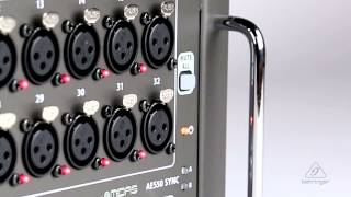 S32 I/O Box with 32 Remote-Controllable MIDAS Preamps, 16 Outputs and AES50 Networking