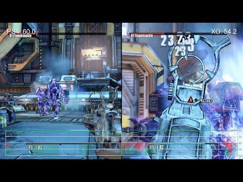 Сравнение качества текстур и частоты FPS игр сборника Borderlands: The Handsome Collection на Xbox One и Playstation 4