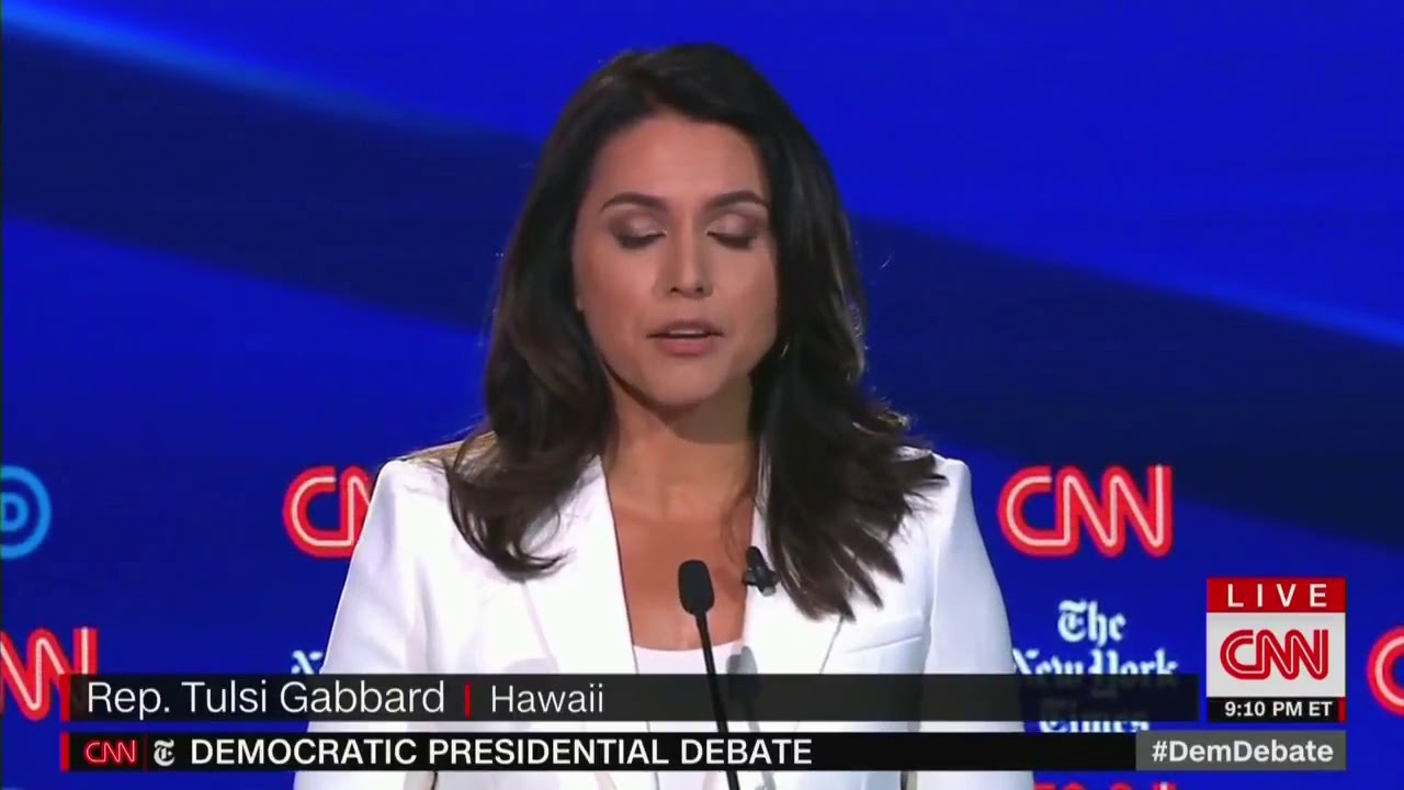 Democratic debate: Military veterans Tulsi Gabbard and Pete Buttigieg clash over Syria
