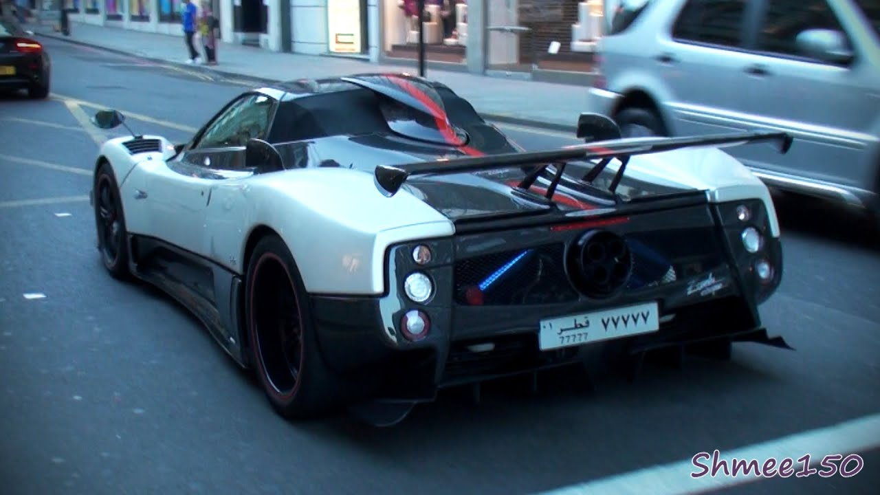 Pagani Zonda Cinque Roadster - Huge Sounds, Revs and Acceleration ...