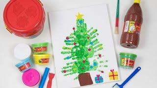 Dibujo árbol de navidad | Manualidades de navidad para niños 3 años