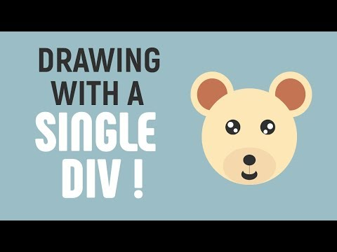 Making CSS Illustration With A Single Div | CSS Illustration | CSS Speed Art