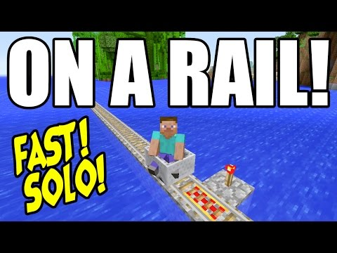 On A Rail FAST! EASY! Achievement Trophy Guide Minecraft