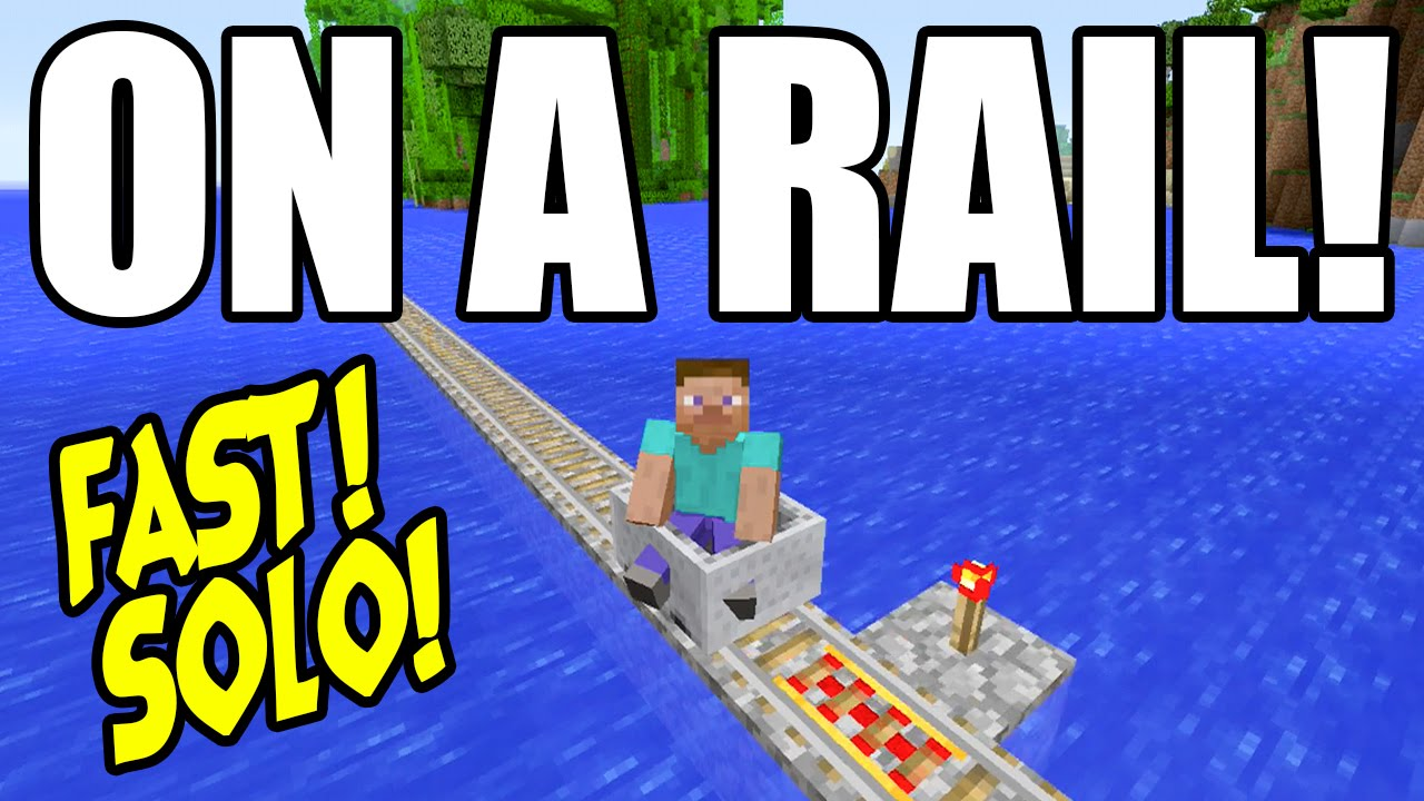 how to make a fast rail in minecraft