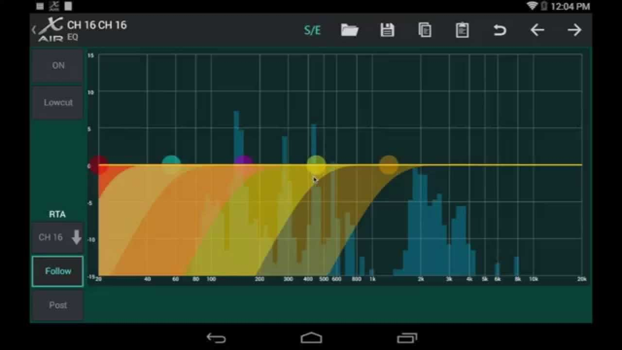 MIDAS + BEHRINGER X-AIR XR18 MR18: RESET Android EQ