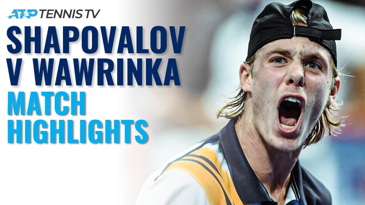Denis Shapovalov vs Stan Wawrinka: ATP Tennis Highlights!