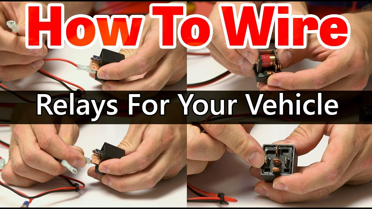 How to wire a relay - Tutorial - YouTube  Pin Fan Relay Wiring Diagram on 4 pin trailer connector diagram, 4 pin micro relay, how does a relay work diagram, 4 pin trailer plug diagram, 4 pin trailer wiring, light relay diagram, 4 pin relay schematic, 4 pin relay connector, blower relay diagram, standard relay diagram, basic relay diagram, 4 pin relay operation, relay function diagram, ford relay diagram, iso relay diagram, electrical relay diagram, 11 pin relay base diagram, 4 wire relay diagram, 4 pin tow electric diagram, 1998 ford f-150 fuse box diagram,