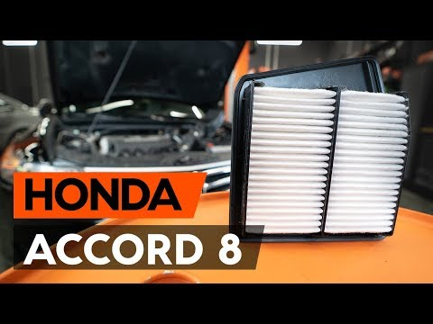How to replace air filter onHONDA ACCORD 8 (CU2)[TUTORIAL AUTODOC]