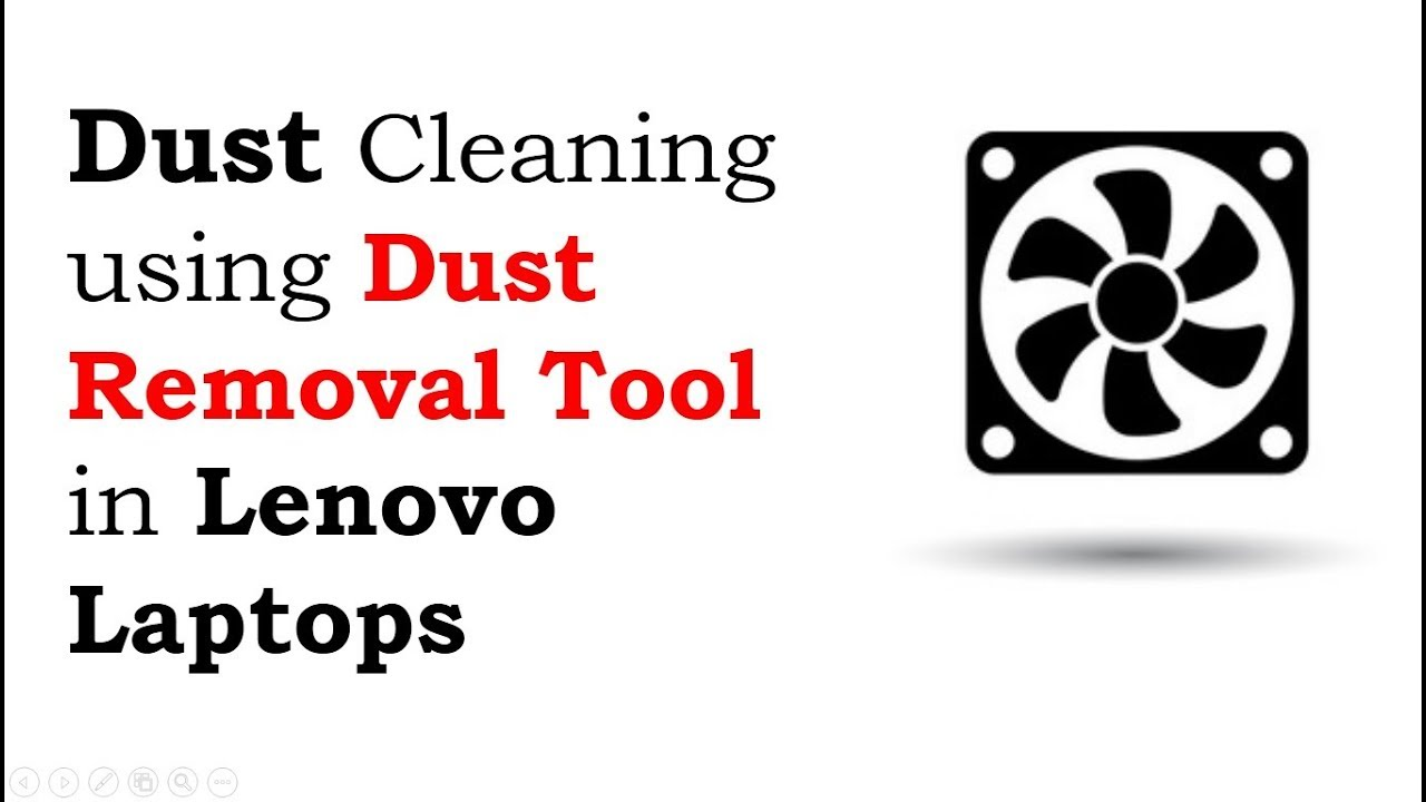 How to run Dust Removal tool in Lenovo Laptops | Dust Removal tool in Lenovo