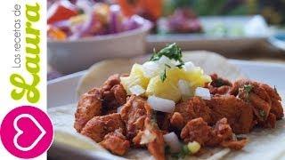 Tacos Al Pastor Saludables ¡de Pollo!♥recetas Mexicanas Saludables♥how To Make Tacos Al Pastor