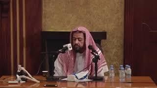 شوف ردة فعل الشيخ بعد ما سمع نغمة الجوال بنص المحاضرة