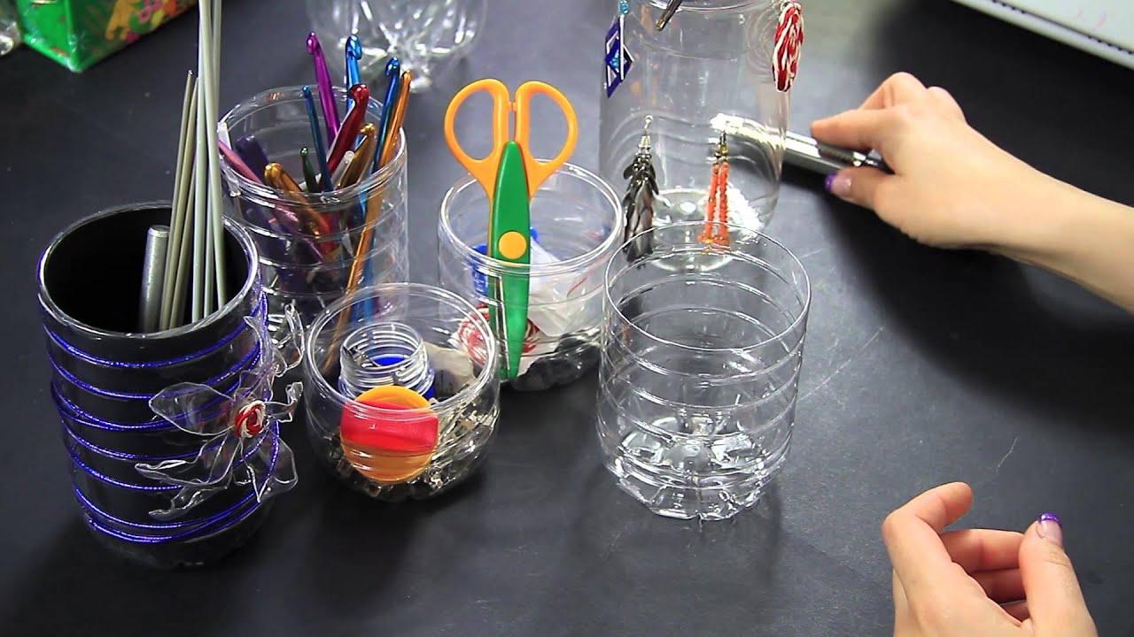 Popolare Portaoggetti creativo con riciclo plastica delle bottiglie Video  AV98