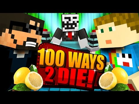 Minecraft: 100 WAYS TO DIE CHALLENGE - DRINKING LIME JUICE C