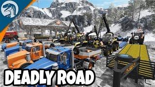 BIGGEST ICE ROAD CONVOY EVER | Arctic Logging | Farming Simulator 17 Multiplayer Gameplay