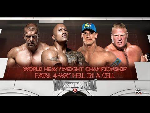 WWE 2K16-The Rock vs Brock Leasnar vs...