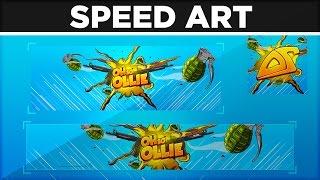 Full Rebrand Illustration for OhSoOllie - SpeedArt by BTR Designs
