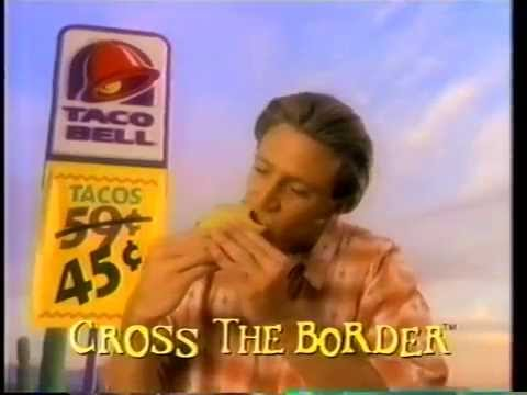 Taco Bell 45-cent tacos commercial (1994) - YouTube