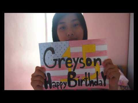 Happy 15th Birthday Greyson !:)