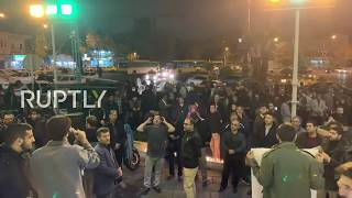 LIVE: People gather in Tehran following the killing of Quds Force's Soleimani