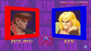 Ultra Street Fighter II The Final Challengers Gameplay with Evil Ryu