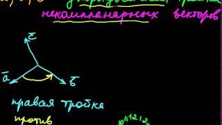 §11 Ориентация векторов в пространстве