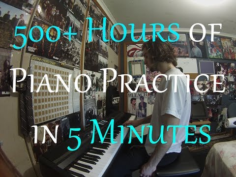 This guy practiced piano for more than 500 hours, so maybe sticking to goals *does* matter