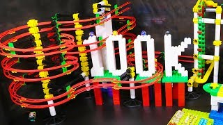 Special MARBLE RACE 100k SUBSCRIBERS - MARBLE RUN with AUTOMATIC ELEVATOR
