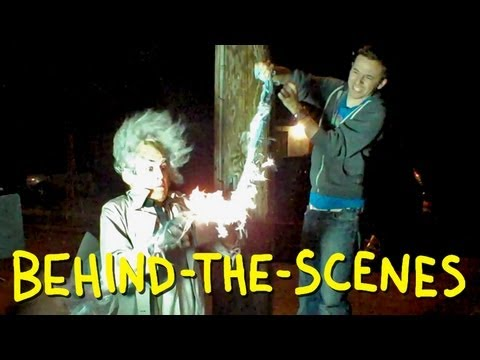 Back To The Future BTTF - Clock Tower Scene - Homemade (behind the scenes)