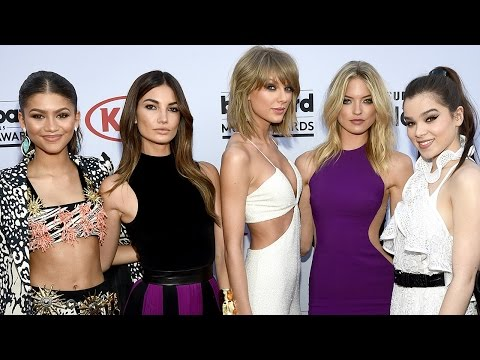 Taylor Swift & Best Friends Red Carpet Fashion Billboard Music Awards 2015