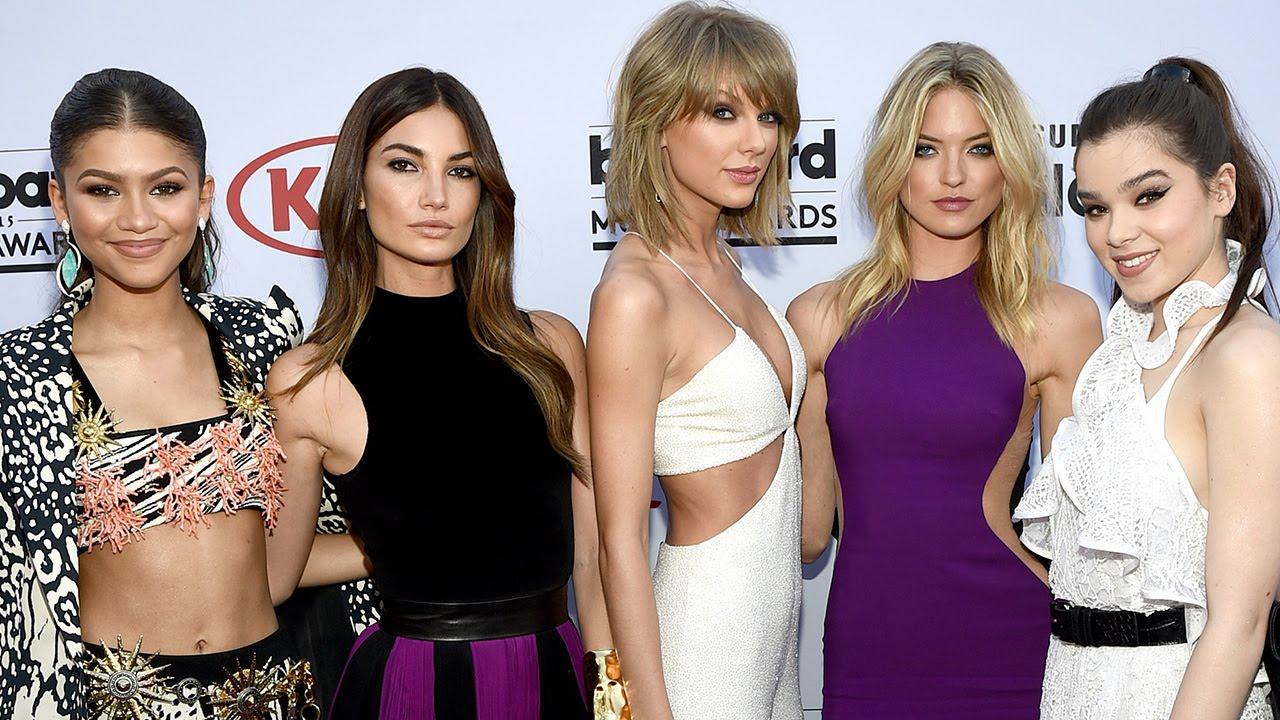 Wonderful Taylor Swift U0026 Best Friends Red Carpet Fashion Billboard Music Awards 2015    YouTube