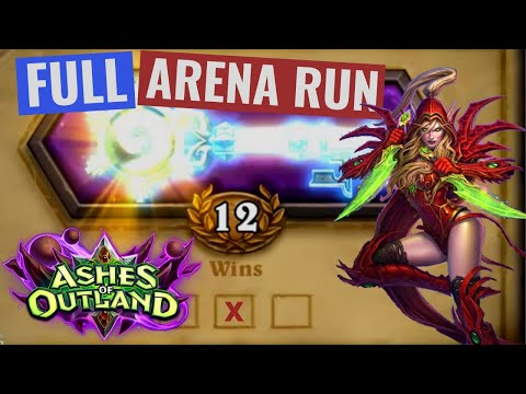 12 Win Rogue FULL RUN - Ashes of Outland Hearthstone Arena