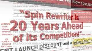 Spin Rewriter Best article rewriting software for pc and Mac(, 2013-04-17T04:14:45.000Z)