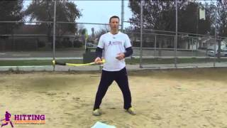 Baseball Swing Drills: Rope Bat Shifting Foot Pressure & Bat Lag Hitting Aid