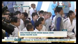 Hollywood Actor Steven Seagal Gives Aikido Master Class Youtube