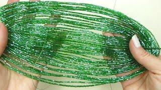 Амазонская лилия из бисера. Урок 12 - Листья II вида / Beaded amazon lily. Lesson 12 - Leaves, type2