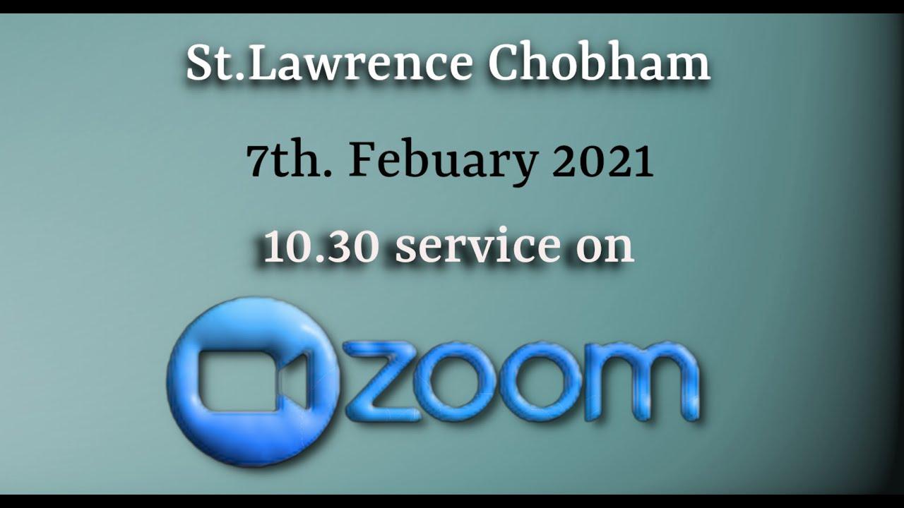 Todays Zoom Service