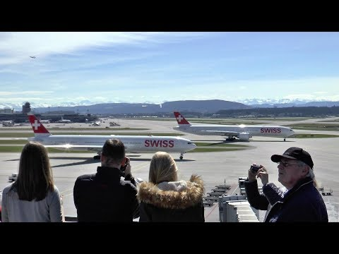 A beautiful spring day at Zurich Airport ✈️ Rush Hour action!