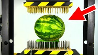WATERMELON BETWEEN NAIL BEDS (HYDRAULIC PRESS EXPERIMENT) thumbnail