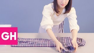 Here's Exactly How to Fold Dress Shirts the Marie Kondo Way   GH