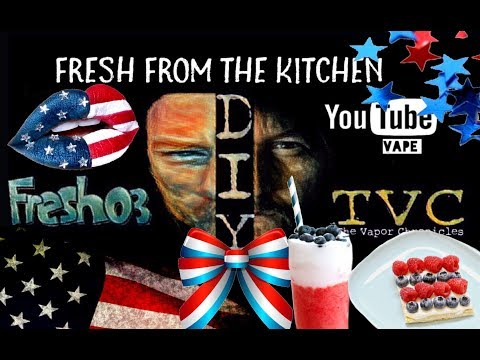 Fresh From The Kitchen Lesson 40- Veterans Day Red White And Blue Mix