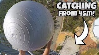 CATCHING EXERCISE BALLS from 45m