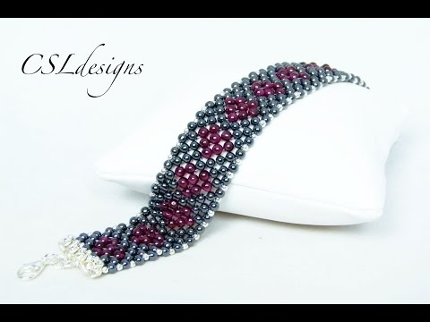 Secret hearts beaded gemstone bracelet ⎮ Valentine's Day