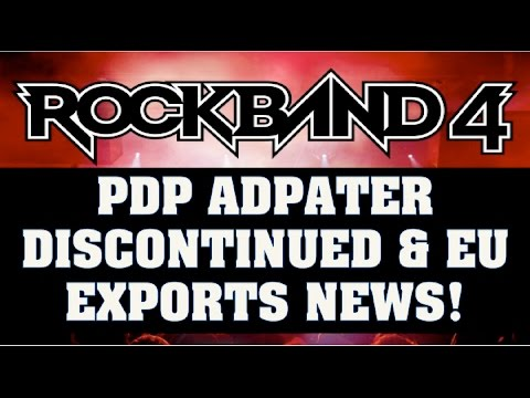 Rock Band 4 News: PDP Adapter No Longer Being Sold, Europe Exports Update & More1