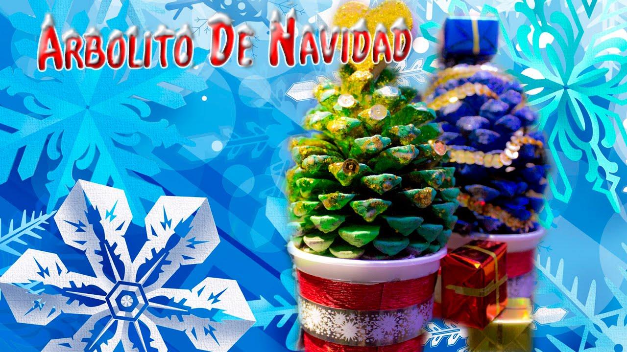 Diy arbolito de navidad decoraciones navide as para el - Adornos para navidad con pinas ...